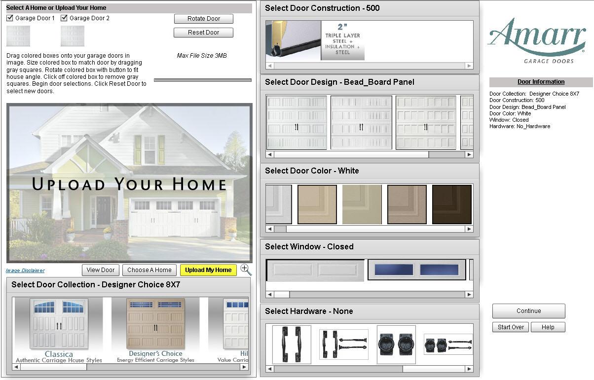 view an amarr garage door on a photo of your own home amarr new door designer
