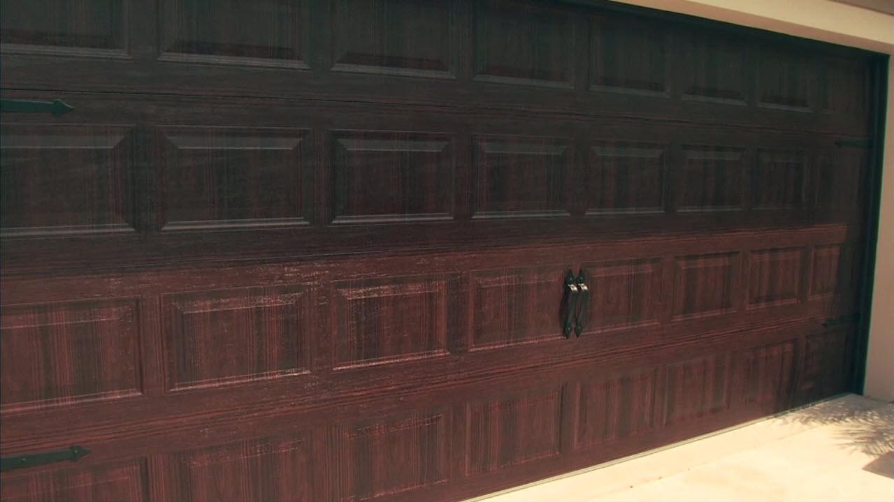 The Keefes' beautiful new Amarr garage door