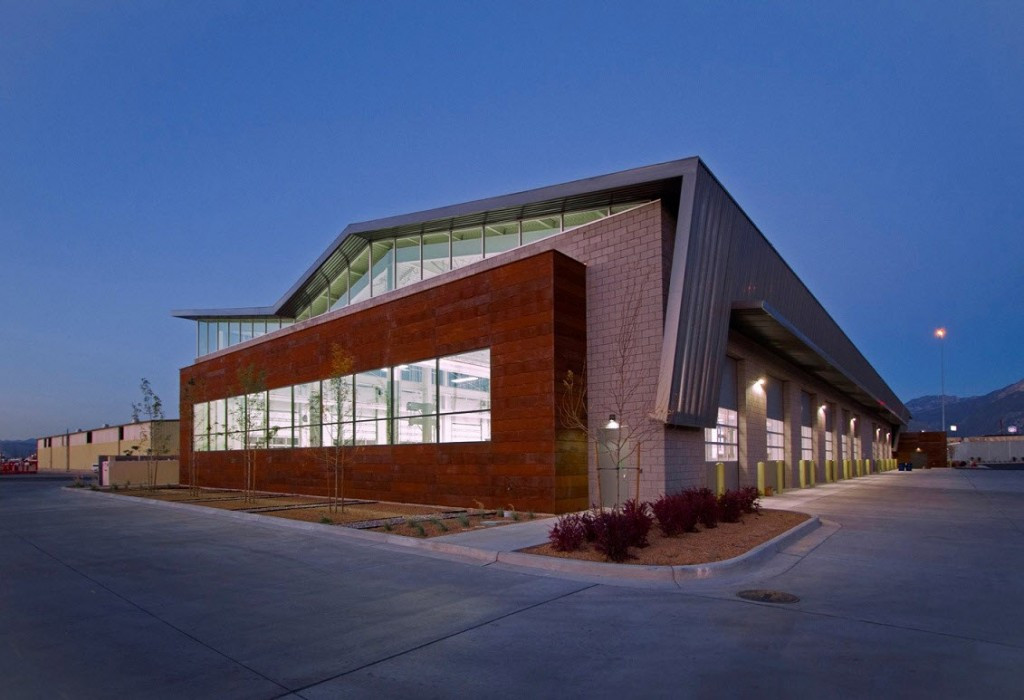 The Salt Lake County Fleet Management facility is a LEED Gold-certified building in Midvale, Utah.