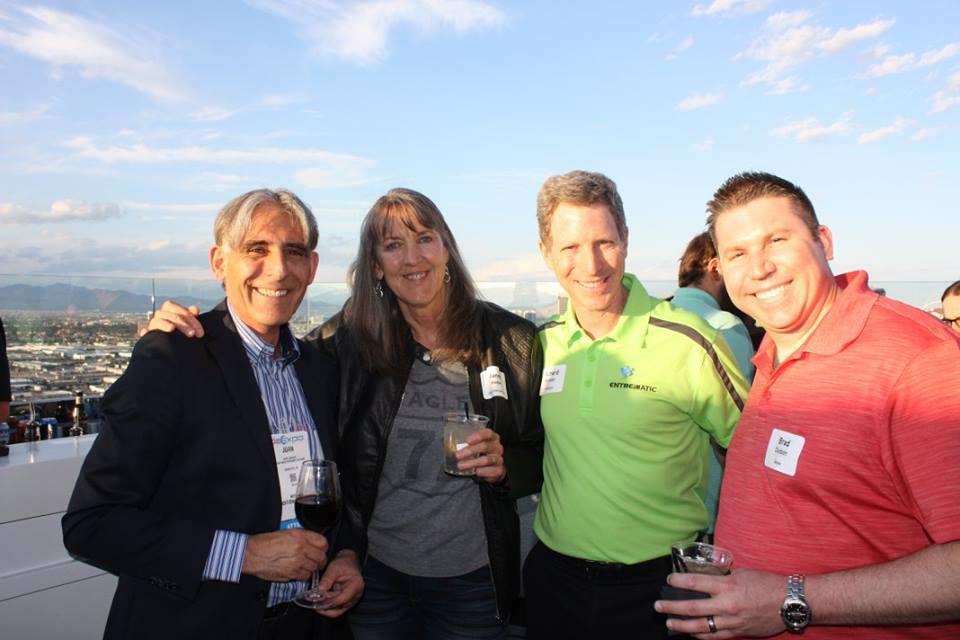 From left to right: Juan Vargues – Entrematic President, Janee Weber – Alpha Overhead Door, Richard Brenner – Entrematic Vice Chairman, Brad Dodson – Delden.