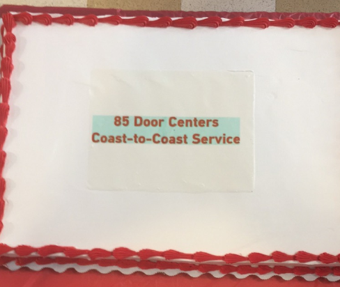 Entrematic's Winston-Salem, North Carolina Support Center also celebrated the opening of the 85th Door Center – with a cake large enough to feed all 90 of their Team Members!