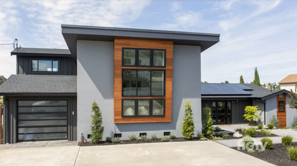 Property Brothers Hilltop House with Amarr Horizon garage door