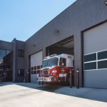 Hybrid Door Solution Provides Views, Energy Efficiency for Remodeled Fire Station